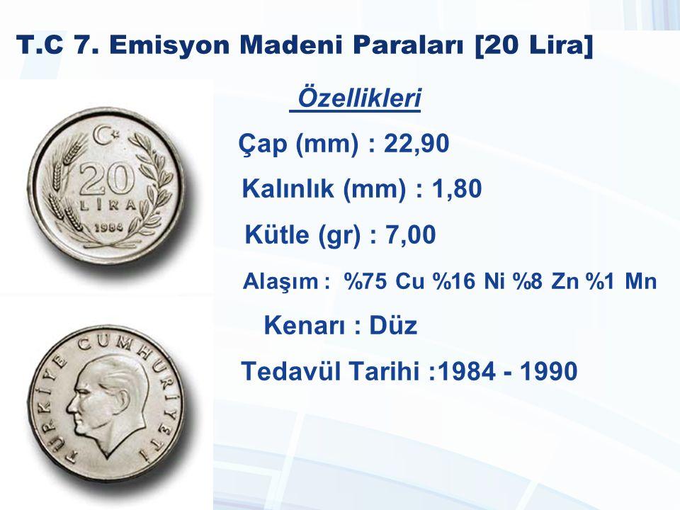 T.C 7. Emisyon Madeni Paraları [20 Lira]